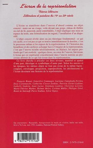 4eme L'ÉCRAN DE LA REPRÉSENTATION