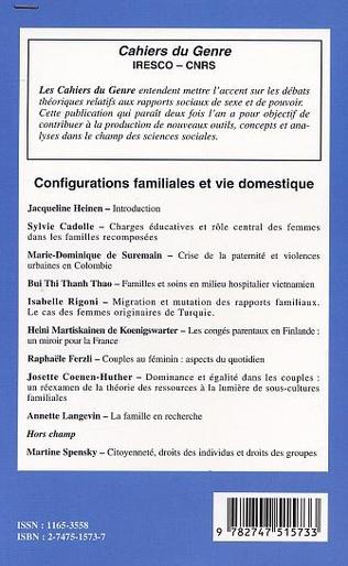 4eme CONFIGURATIONS FAMILIALES ET VIE DOMESTIQUE