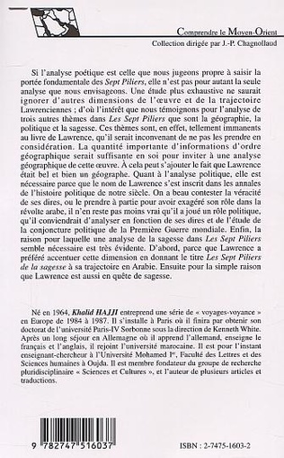 4eme LAWRENCE D'ARABIE OU L'ARABIE DE LAWRENCE : GÉOGRAPHIE, POLITIQUE, POÉTIQUE, SAGESSE