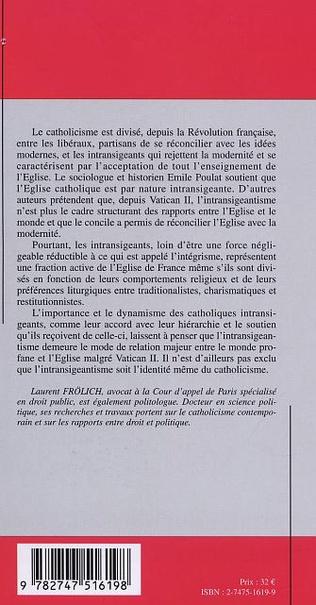 4eme LES CATHOLIQUES INTRANSIGEANTS EN FRANCE
