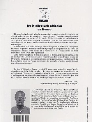 4eme LES INTELLECTUELS AFRICAINS EN FRANCE