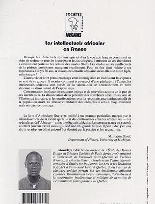 4eme LES INTELLECTUELS AFRICAINS EN FRANCE
