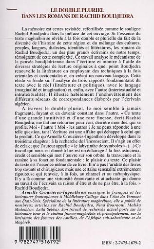 4eme LE DOUBLE PLURIEL DANS LES ROMANS DE RACHID BOUDJEDRA