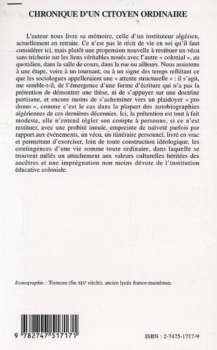 4eme CHRONIQUE D'UN CITOYEN ORDINAIRE