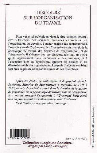 4eme DISCOURS SUR L'ORGANISATION DU TRAVAIL