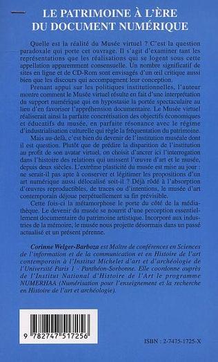 4eme LE PATRIMOINE À L'ÈRE DU DOCUMENT NUMÉRIQUE