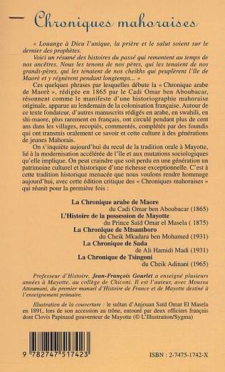 4eme CHRONIQUES MAHORAISES