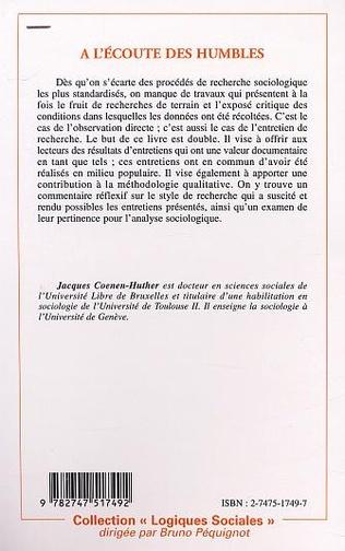 4eme A L'ÉCOUTE DES HUMBLES