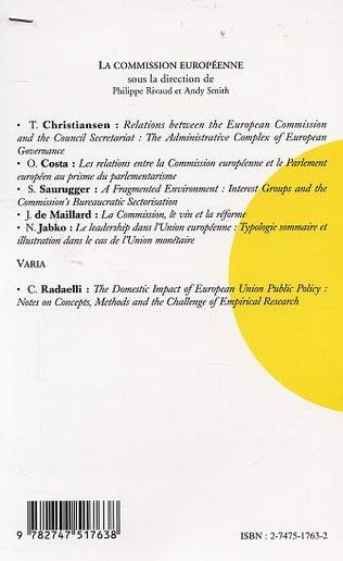 4eme LA COMMISSION EUROPÉENNE : LES DYNAMIQUES D'UNE RECONFIGURATION INSTITUTIONNELLE