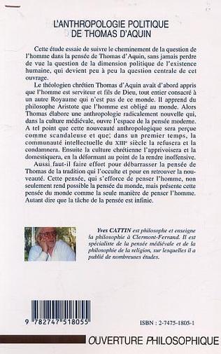 4eme ANTHROPOLOGIE POLITIQUE DE THOMAS D'AQUIN