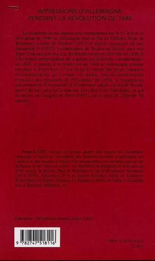 4eme IMPRESSIONS D'ALLEMAGNE PENDANT LA RÉVOLUTION DE 1848