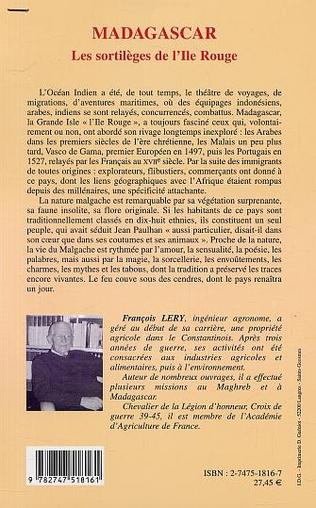 4eme MADAGASCAR LES SORTILÈGES DE L'ILE ROUGE