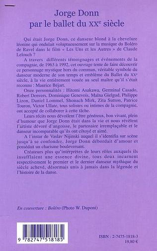 4eme JORGE DONN PAR LE BALLET DU XXe SIECLE
