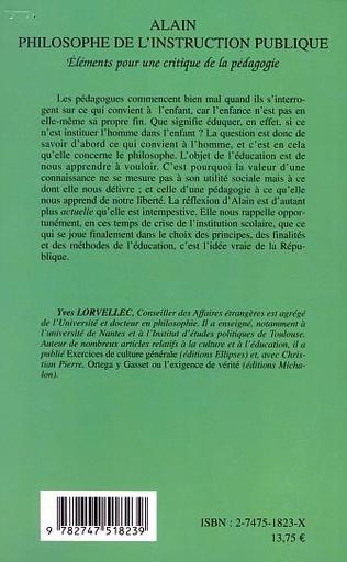 4eme ALAIN PHILOSOPHE DE L'INSTRUCTION PUBLIQUE