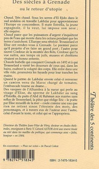 4eme DES SIÈCLES À GRENADE OU LE RETOUR D'UTOPIE