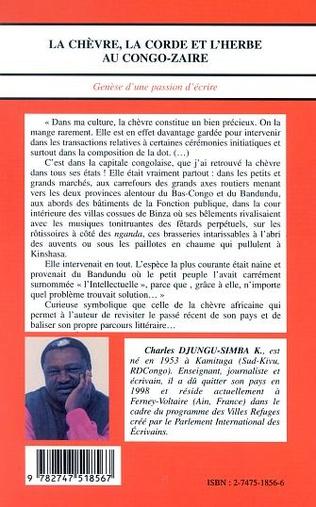 4eme LA CHÈVRE, LA CORDE ET L'HERBE AU CONGO-ZAÏRE