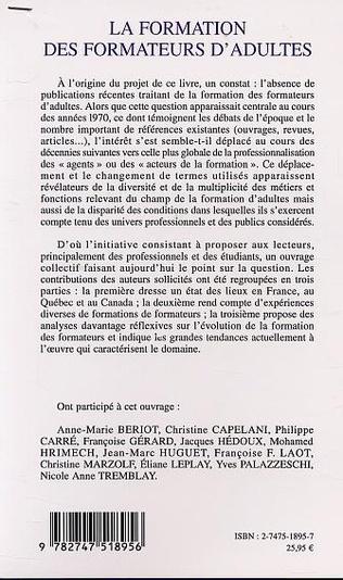 4eme LA FORMATION DES FORMATEURS D'ADULTES