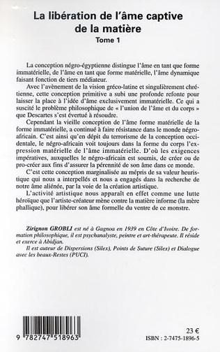4eme LA LIBÉRATION DE L'ÂME CAPTIVE DE LA MATIÈRE