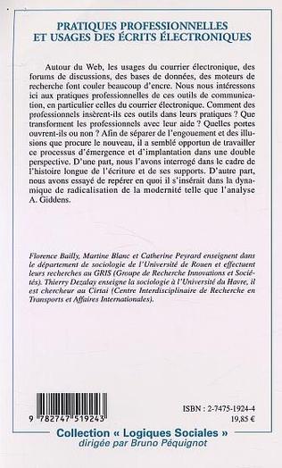 4eme PRATIQUES PROFESSIONNELLES ET USAGE DES ÉCRITS ÉLECTRONIQUES