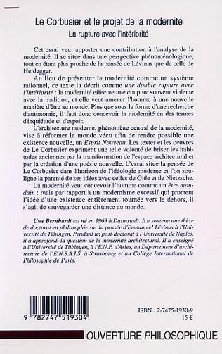 4eme LE CORBUSIER ET LE PROJET DE LA MODERNITÉ