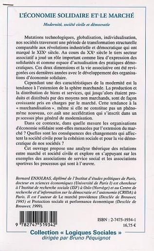 4eme L'ÉCONOMIE SOLIDAIRE FACE AU MARCHÉ