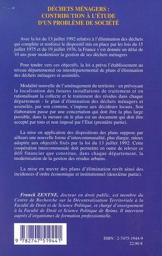 4eme DÉCHETS MÉNAGERS : CONTRIBUTION À L'ÉTUDE D'UN PROBLÈME DE SOCIÉTÉ