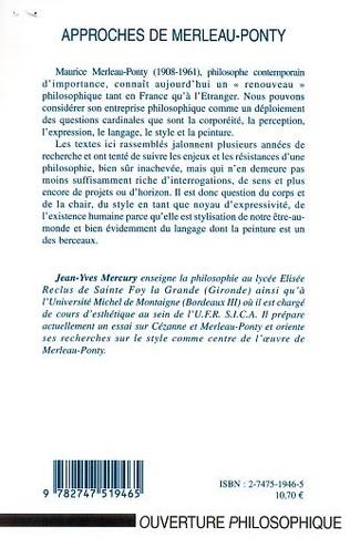 4eme APPROCHES DE MERLEAU-PONTY