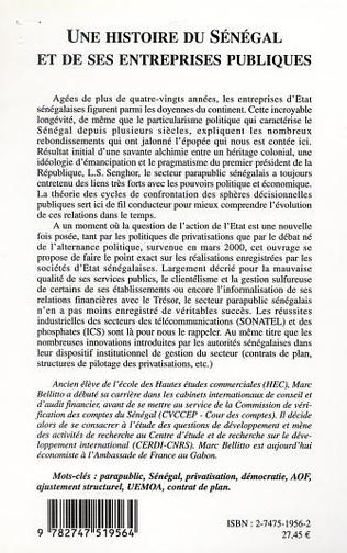 4eme UNE HISTOIRE DU SÉNÉGAL ET DE SES ENTREPRISES PUBLIQUES