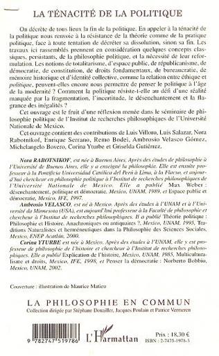 4eme LA TÉNACITÉ DE LA POLITIQUE