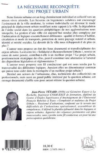 4eme LA NÉCESSAIRE RECONQUÊTE DU PROJET URBAIN