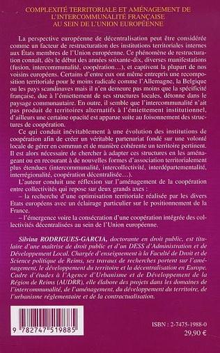 4eme COMPLEXITÉ TERRITORIALE ET AMÉNAGEMENT DE L'INTERCOMMUNALITÉ FRANÇAISE AU SEIN DE L'UNION EUROPÉENNE