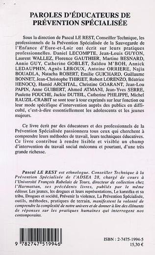 4eme PAROLES D'ÉDUCATEURS DE PRÉVENTION SPÉCIALISÉE