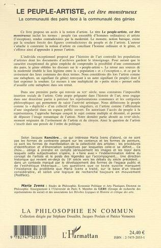4eme LE PEUPLE-ARTISTE, CET ÊTRE MONSTRUEUX