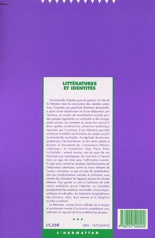 4eme Littérature et identités