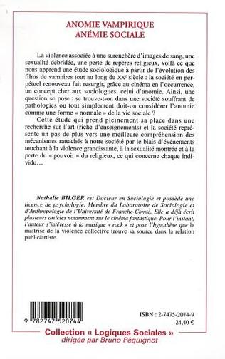 4eme ANOMIE VAMPIRIQUE, ANÉMIE SOCIALE