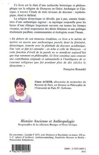 4eme DIONYSOS EN TRANSE : LA VOIX DES FEMMES