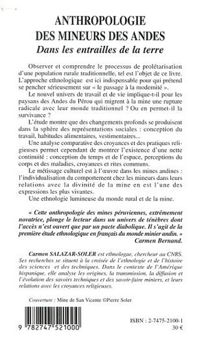4eme ANTHROPOLOGIE DES MINEURS DES ANDES