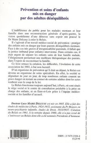 4eme PRÉVENTION ET SOIN D'ENFANTS MIS EN DANGER PAR DES ADULTES DÉSÉQUILIBRÉS