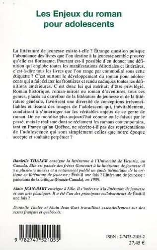 4eme LES ENJEUX DU ROMAN POUR ADOLESCENTS