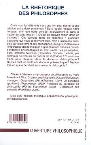 4eme LA RHÉTORIQUE DES PHILOSOPHES