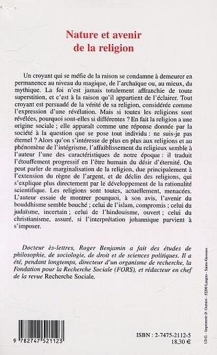 4eme NATURE ET AVENIR DE LA RELIGION