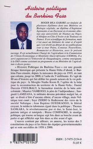 4eme HISTOIRE POLITIQUE DU BURKINA FASO 1919-2000