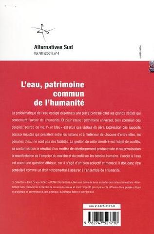 4eme L'EAU, PATRIMOINE COMMUN DE L'HUMANITÉ