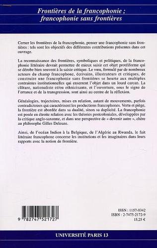 4eme Frontières de la francophonie