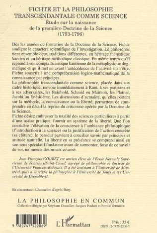 4eme FICHTE ET LA PHILOSOPHIE TRANSCENDANTALE COMME SCIENCE