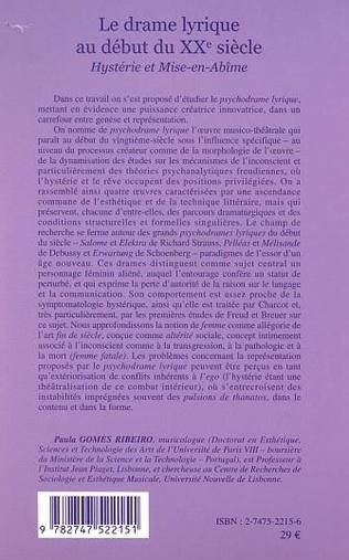 4eme LE DRAME LYRIQUE AU DÉBUT DU XXe SIÈCLE