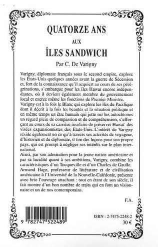 4eme QUATORZE ANS AUX ÎLES SANDWICH