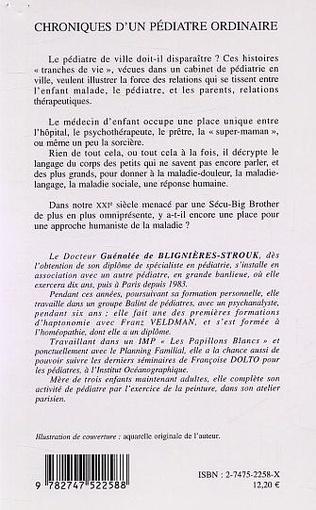 4eme CHRONIQUE D'UN PÉDIATRE ORDINAIRE
