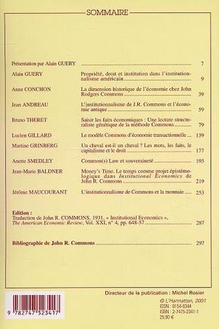 4eme LECTURES DE JOHN R. COMMONS