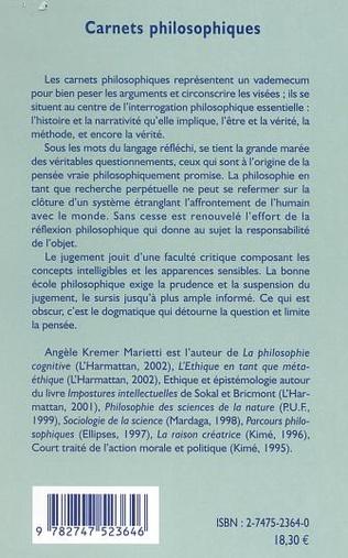 4eme CARNETS PHILOSOPHIQUES